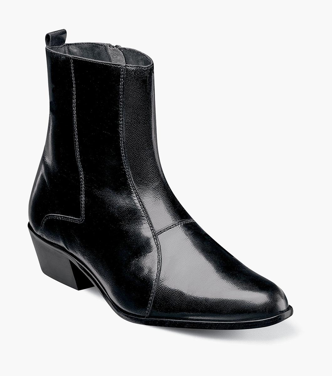 0bd7d4e0f Men's Dress Shoes | Black Slip On Boot | Stacy Adams Santos