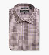 Eli Check Dress Shirt Point Collar 35.00