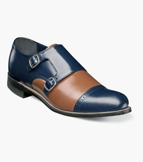 Madison Cap Toe Double Monk Strap