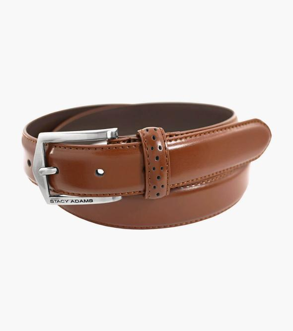 Pinseal Perf Strap Genuine Leather Belt