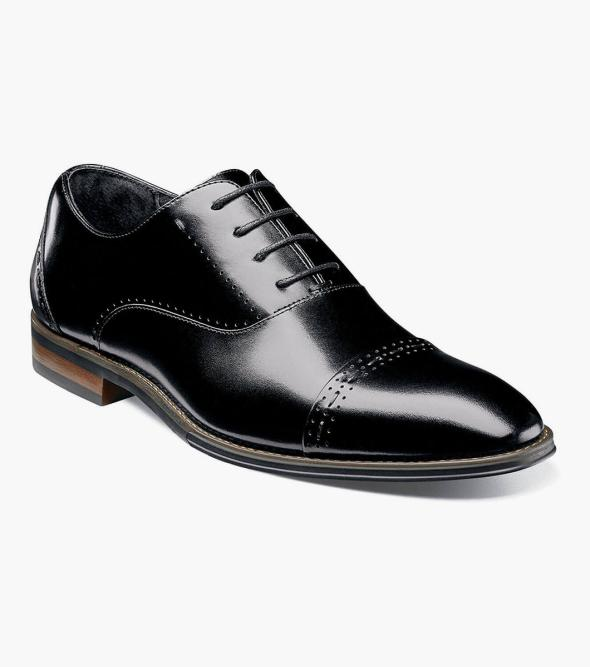 Edwardian Men's Shoes- New shoes, Old Style Barris Cap Toe Oxford $95.00 AT vintagedancer.com