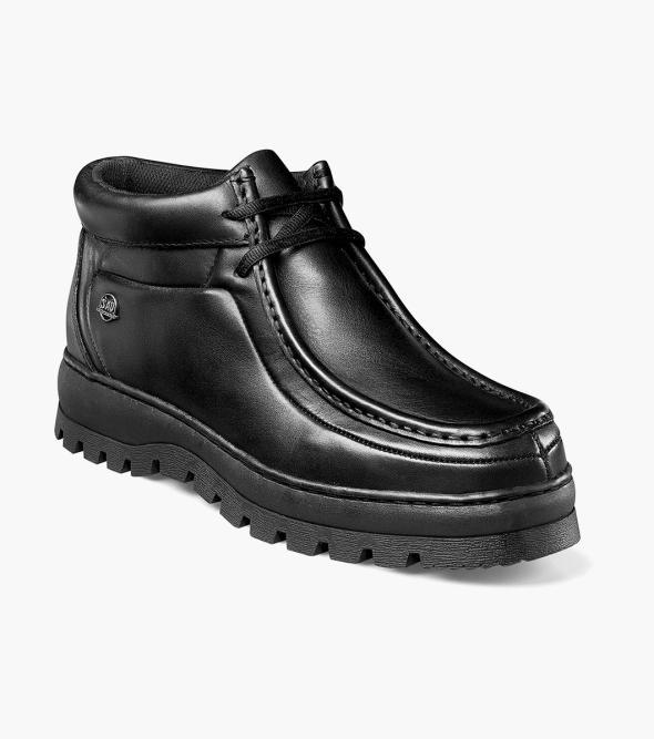 Dublin II Stacy Adams Men's Dublin II Moc Toe Leather Modern Casual Wallabee Boot