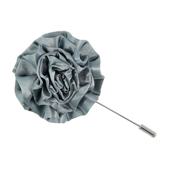 Mia Charcoal Flower Lapel Pin