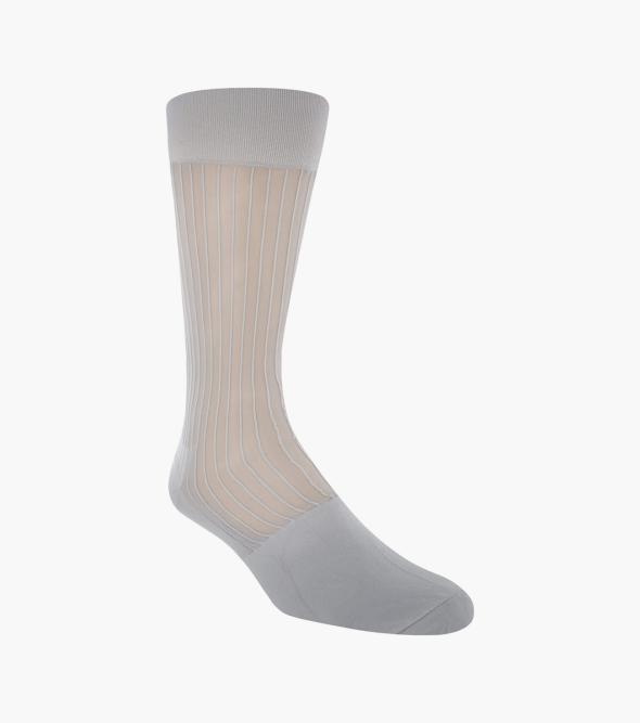 Silky Ribbed Men's Crew Dress Sock