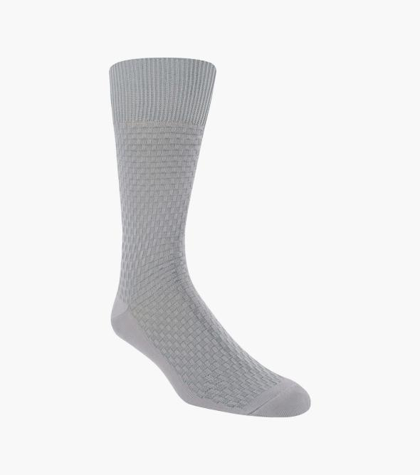 Basket Weave Men's Crew Dress Sock
