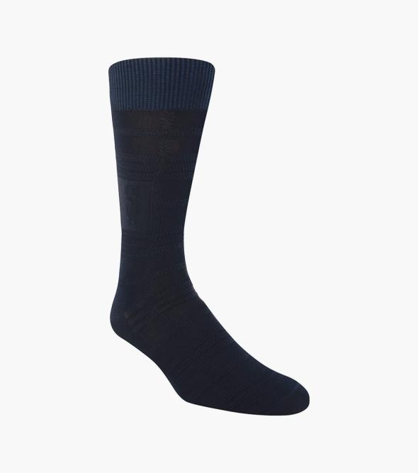 Tonal Plaid  Men's Crew Dress Sock