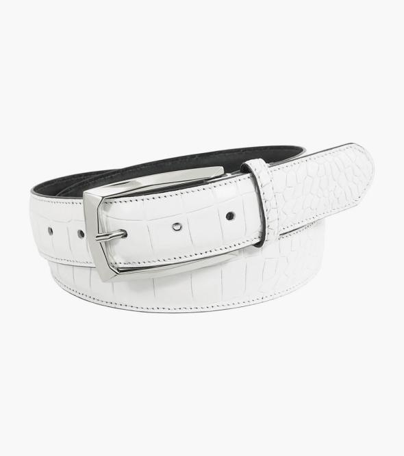 Ozzie Genuine Leather Croc Emboss Belt