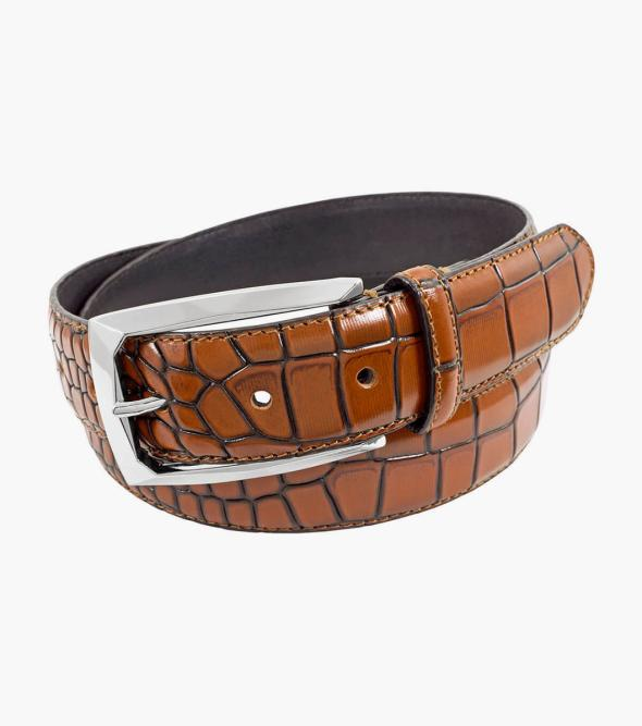 Ozzie XL Extended sizes! Croc Emboss Belt