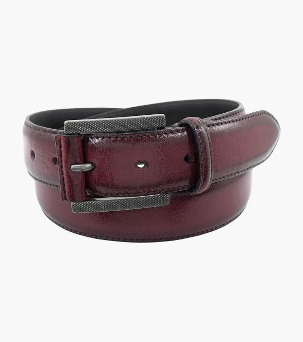 Matthews Burnished Genuine Leather Belt
