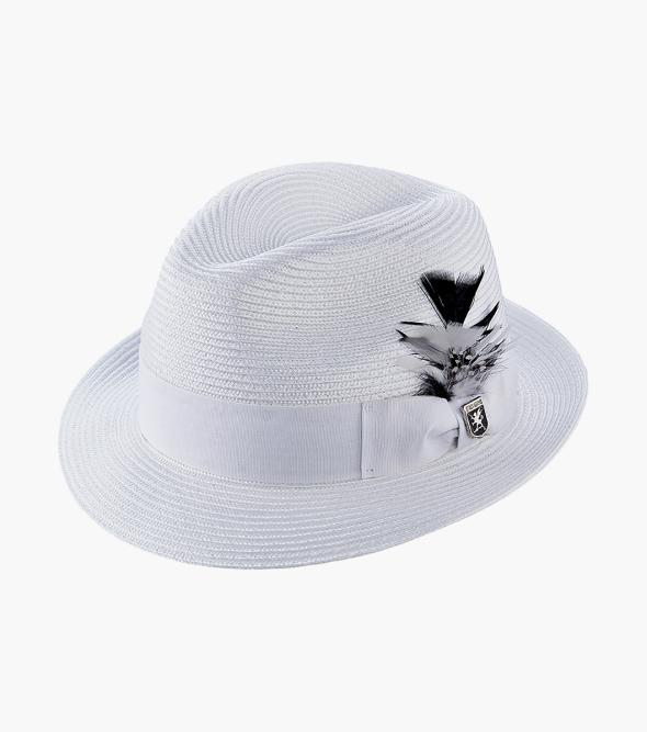 Belmont Fedora Poly Braid Pinch Front Hat