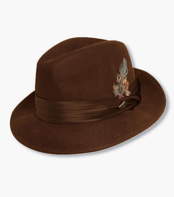 Ash Fedora Crushable Wool Felt Pinch Front Hat