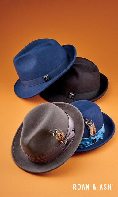 7201f0650ba5c1 Men's Hats category. The featured image is an assortment of Stacy Adams hats  in a