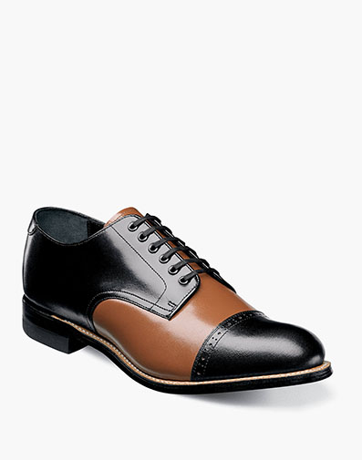 Madison  Cap Toe Oxford in Black Multi for $120.00