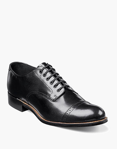 Madison  Cap Toe Oxford in Black for $120.00