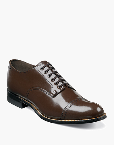 Madison  Cap Toe Oxford in Brown for $120.00