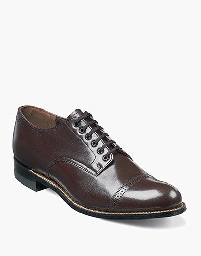 Madison  Cap Toe Oxford in Burgundy for $120.00