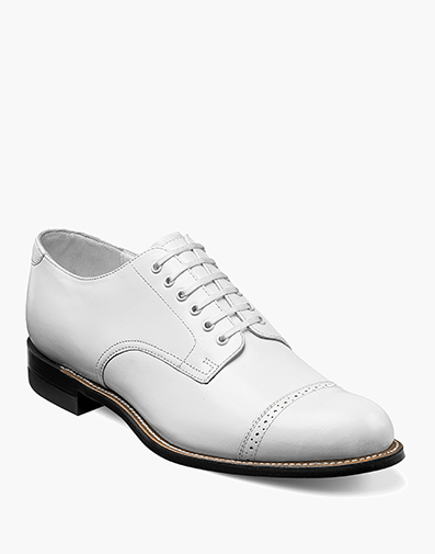 Madison  Cap Toe Oxford in White for $120.00