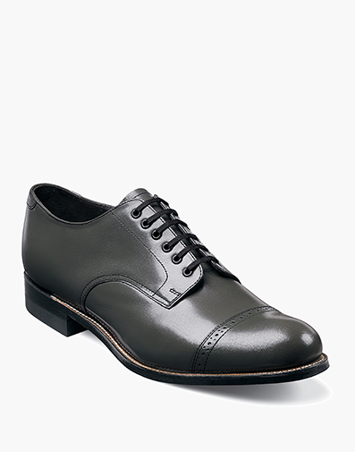 Madison  Cap Toe Oxford in Steel Gray for $120.00