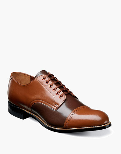 Madison  Cap Toe Oxford in Oak Multi for $120.00