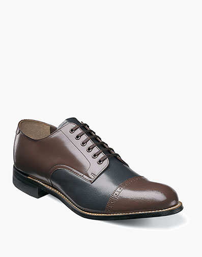 Madison  Cap Toe Oxford in Navy Multi for $120.00