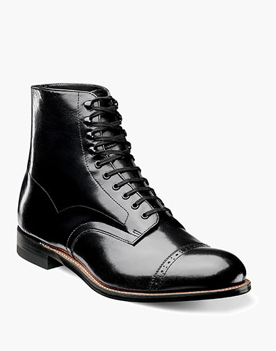 Madison Cap Toe Boot in Black for $135.00