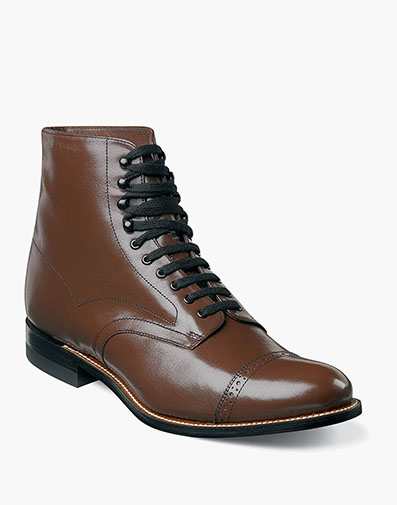 Madison Cap Toe Boot in Brown for $135.00