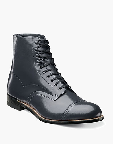 Madison Cap Toe Boot in Navy for $135.00