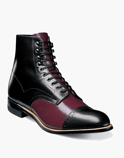 Madison Cap Toe Boot in Burgundy Multi for $135.00