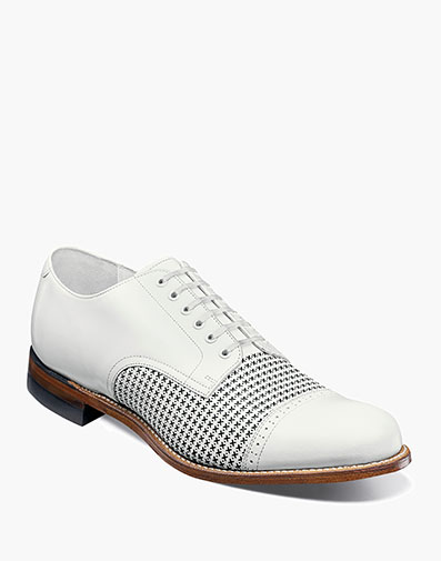 Madison Cap Toe Oxford in White for $130.00