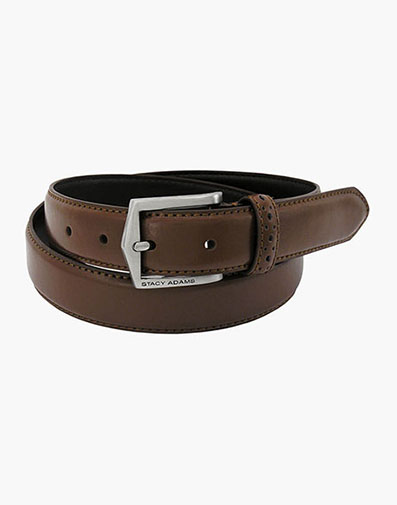 Pinseal Perf Strap Genuine Leather Belt in Chocolate for $25.00