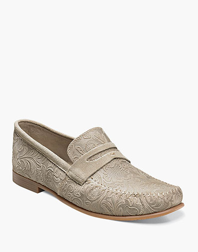 Florian Moc Toe Penny Loafer in Oyster for $49.90