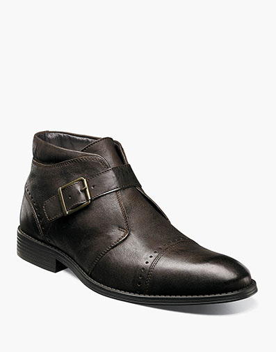 Rawley Cap Toe Monk Strap Boot in Brown for $69.90