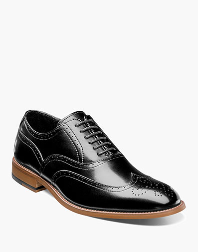 Dunbar  Wingtip Oxford in Black for $100.00