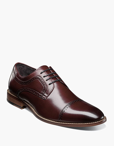 Dickinson Cap Toe Oxford in Burgundy for $100.00