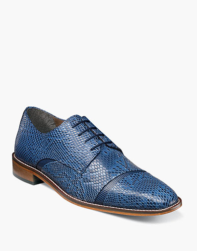 Rizzo  Cap Toe Oxford in Blue for $64.90