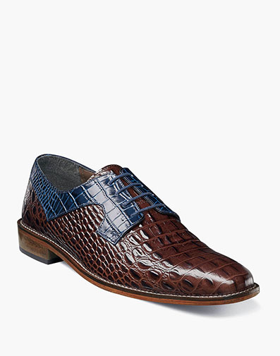 Garelli  Plain Toe Lace Up in Cognac Multi for $64.90