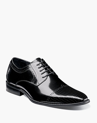 Sanborn Perf Cap Toe Oxford in Black for $89.90