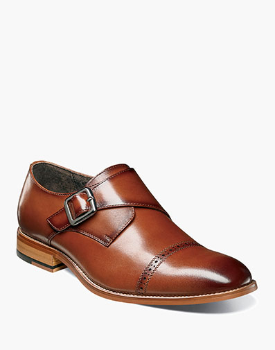 Desmond Cap Toe Monk Strap in Cognac for $100.00