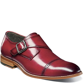 Desmond Cap Toe Monk Strap in Cranberry for $79.90