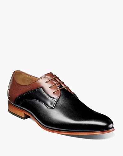 Savion Plain Toe Oxford in Black and Cognac for $74.90