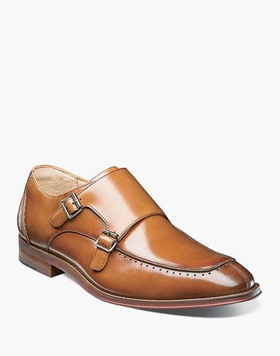 Baldwin Moc Toe Double Monk Strap in Tan for $64.90