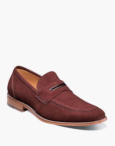 Colfax Moc Toe Penny Slip On in Ox Blood for $90.00