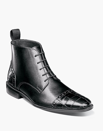 Franco Cap Toe Lace Boot in Black for $100.00