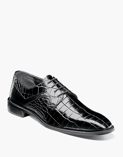 Triolo  Plain Toe Oxford in Black for $95.00