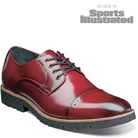 Barcliff  Cap Toe Oxford in Cranberry for $79.90