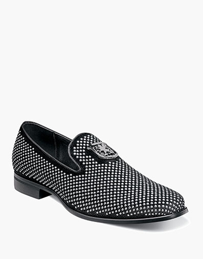Swagger  Studded Slip On in Black and Silver for $70.00