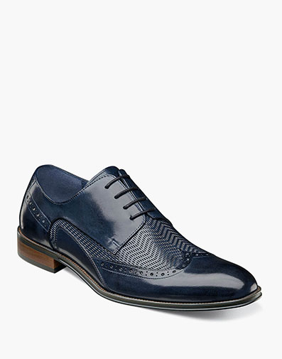 Maguire Wingtip Oxford in Navy for $105.00