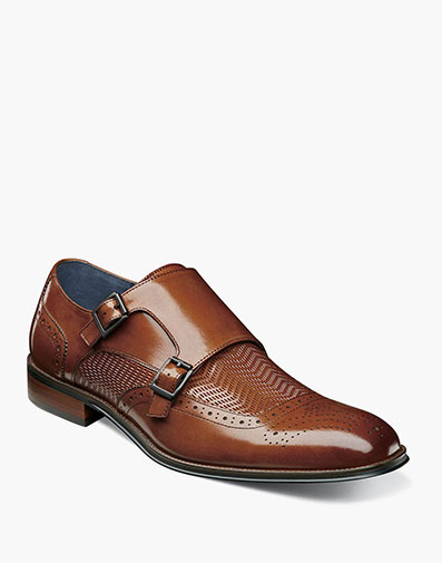 Mabry Moc Toe Double Monk Strap in Tan for $105.00