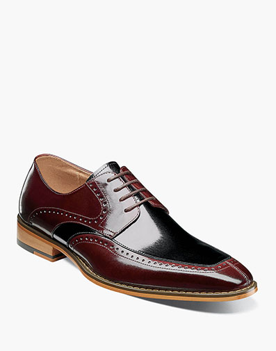 Sanford Moc Toe Oxford in Burgundy Multi for $120.00