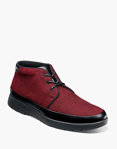 Hartley Moc Toe Chukka Boot in Burgundy.